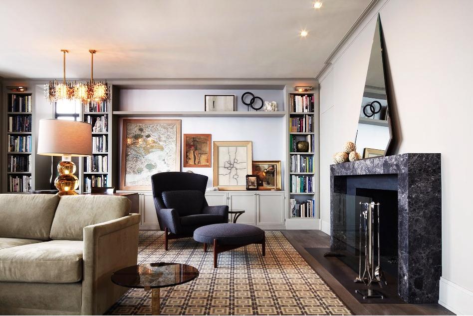Designed to evoke a classic pre-war Manhattan apartment ...