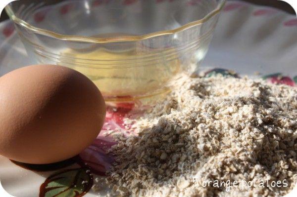 Oatmeal, Honey & Egg face mask: sensitive skin mask from 5 orange potatoes blog spot.