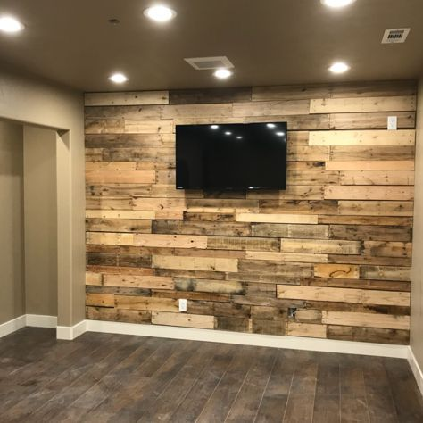 new pallet wall in the basement gym with images  gym