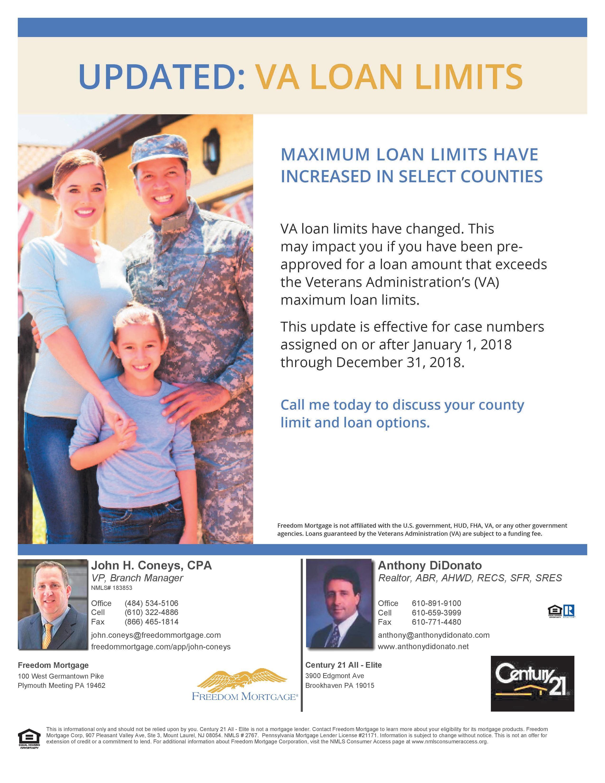 Va Loan Limits More Info Here Http Www Anthonydidonato Net Wordpress 2018 05 16 Va Loan Limits Va Loan Veterans Administration Loan