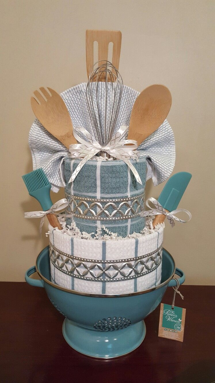 Kitchen towel cake, house warming gift. I love how well this one ...