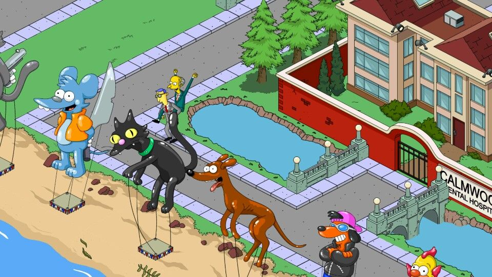 The Simpsons Tapped Out My Springfield Mr Burns Riding The