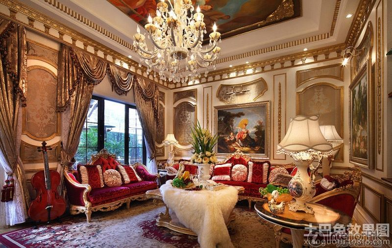 Baroque Style Decorated The Living Room Effect Chart