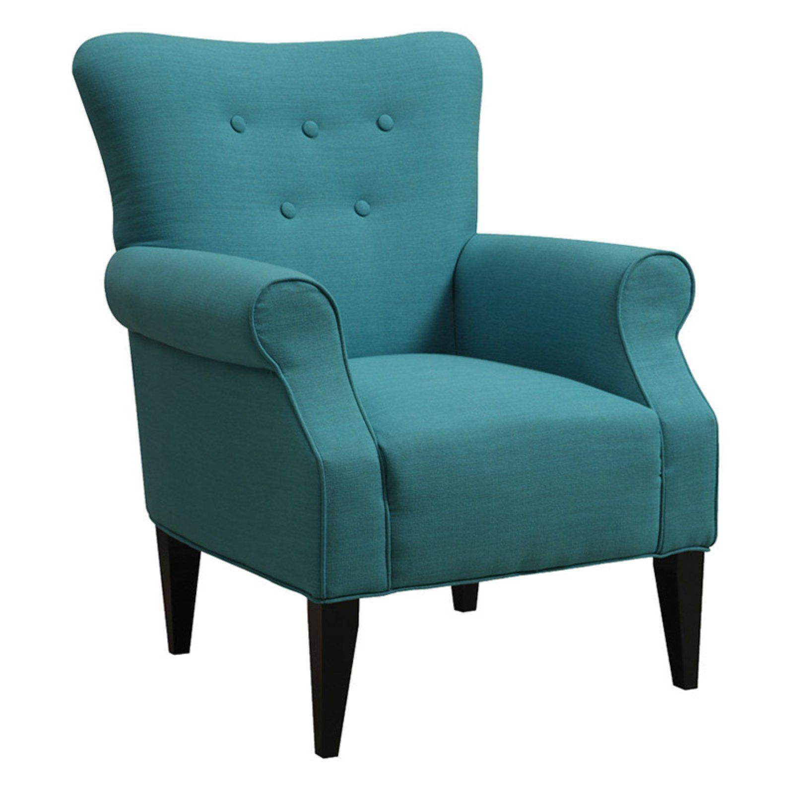 Best Emerald Home Lydia Neon Button Back Accent Chair Teal Armchair Cozy Chair Furniture 400 x 300
