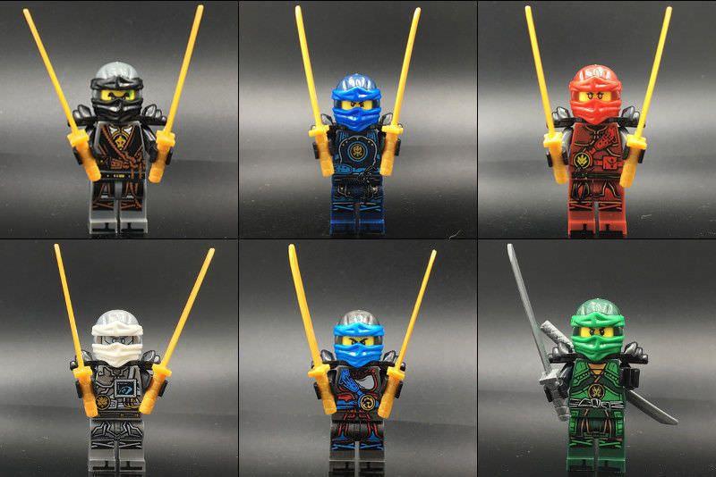 24Pcs Ninjago Lego Building Blocks Toys Minifigures Kids Super Heros Figures Set