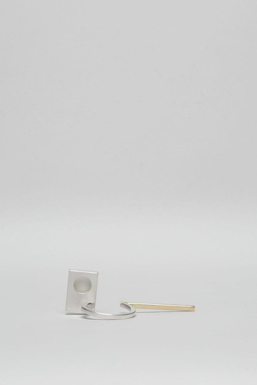 Totokaelo - Bande des Quatres Silver/Gold Stolzl Ring