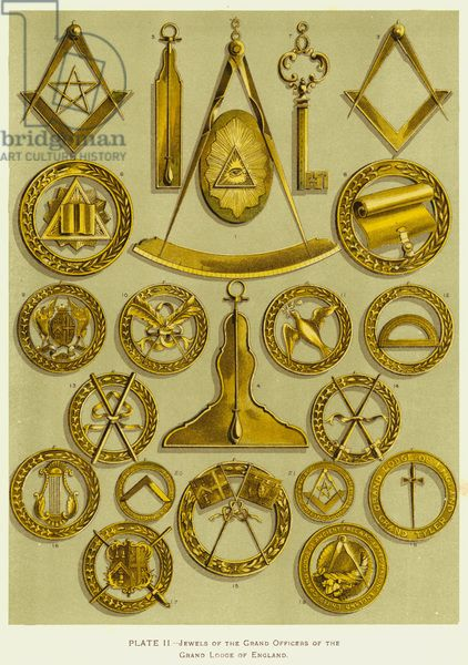 Jewels of the Grand Officers of the Grand Lodge of England