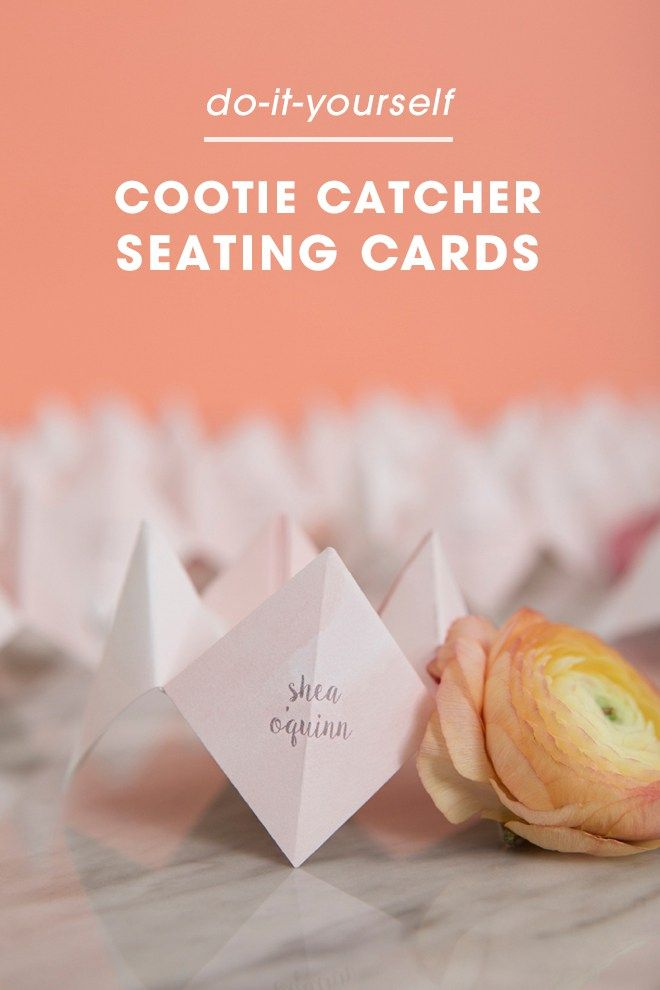 These diy mini cootie catcher seating cards are everything these diy mini cootie catcher seating cards are everything solutioingenieria Gallery