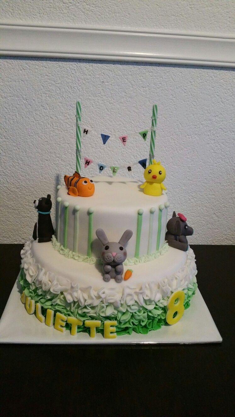 Animal sweet cake Kids cakes Pinterest