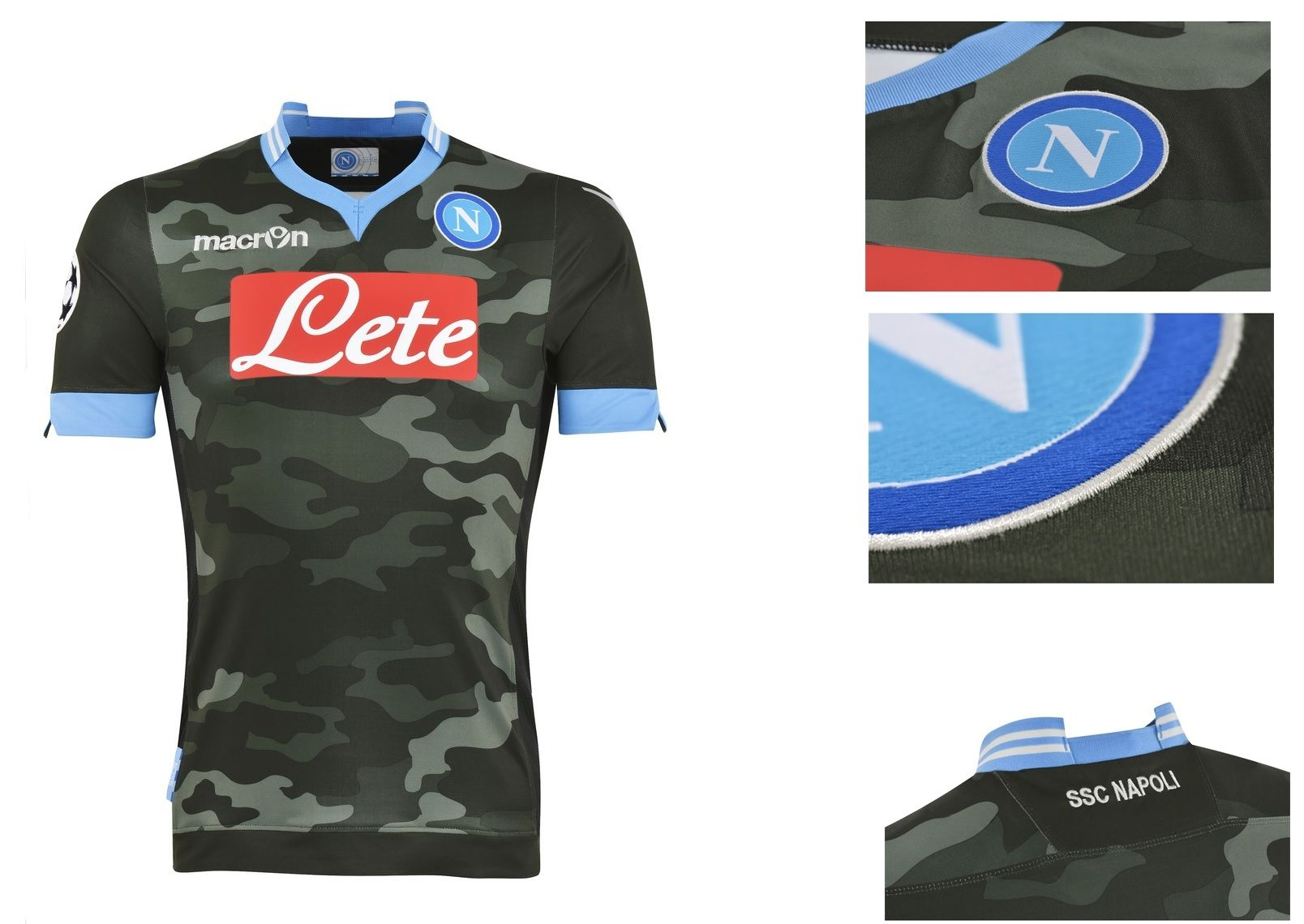 SSC Napoli Champions League Shirts 2013 14 by Macron  b30a8c613f537