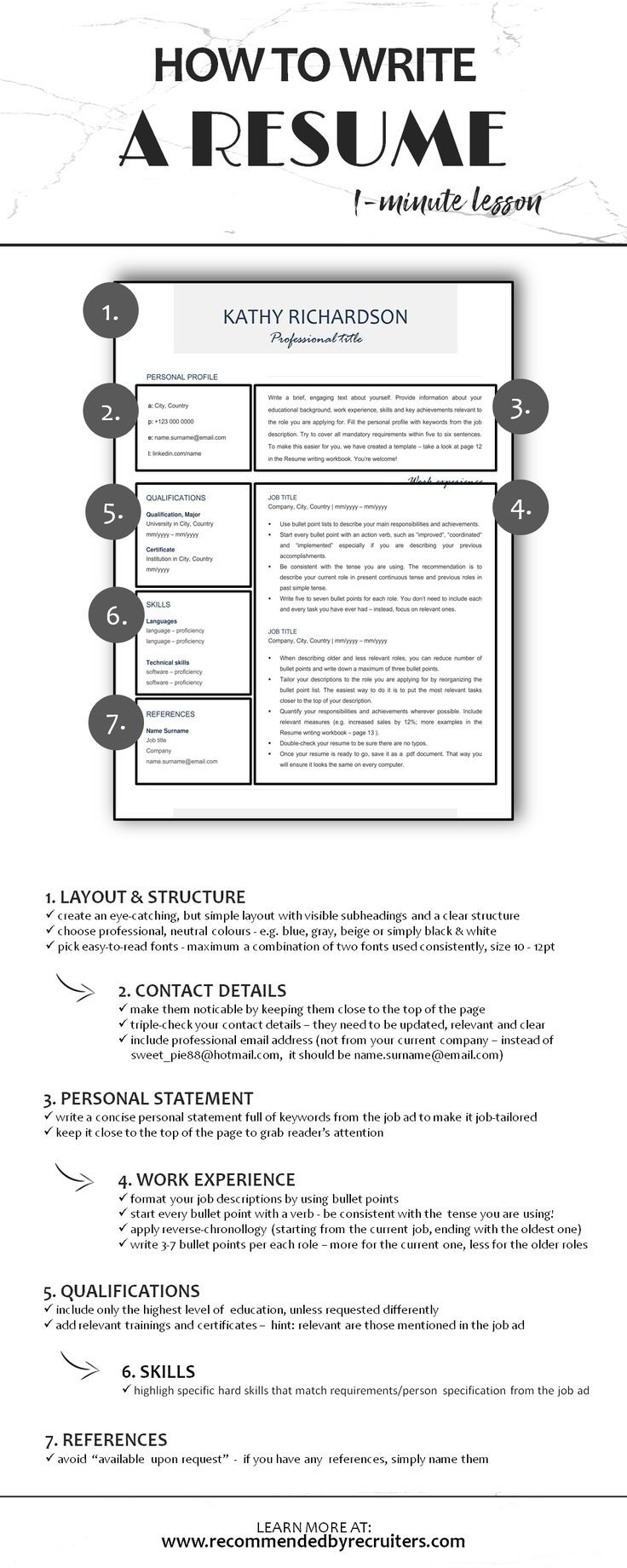 Learn How To Write A Perfect Resume In Less Than 1 Minute Cv Writing Simplified By Professional Recr Resume Writing Tips Resume Templates Resume Template Word