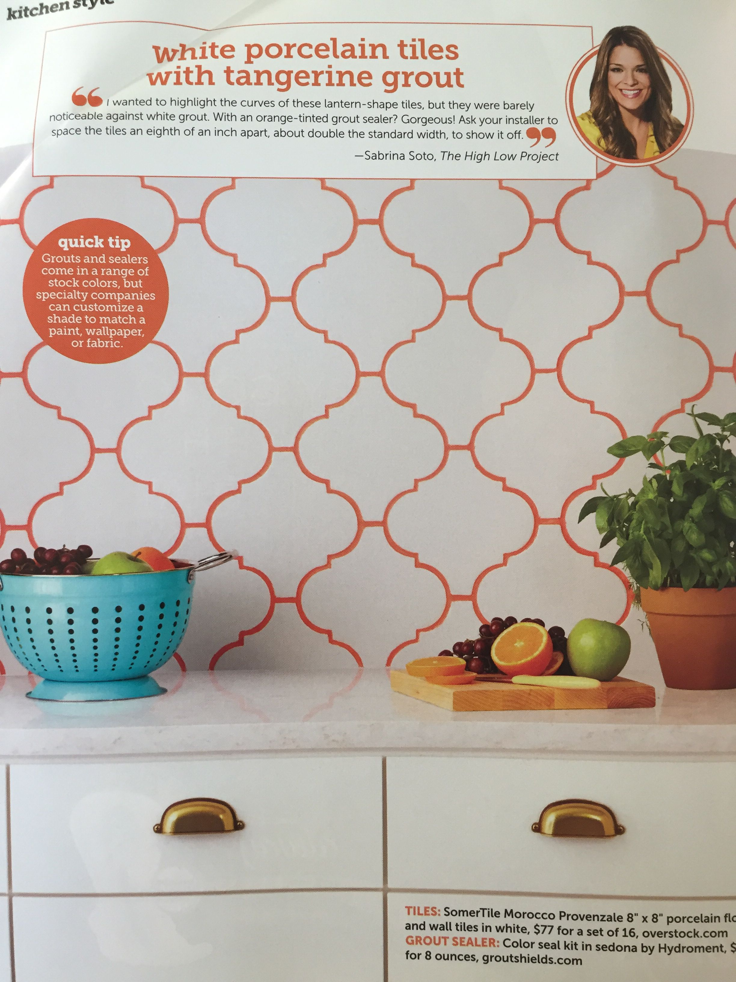 Colored Grout Interior Design Pinterest Grout