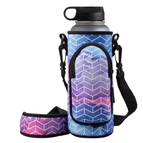 Made Easy Kit Neoprene Water Bottle Carrier Holder Bag Pouch with Adjustable Sho