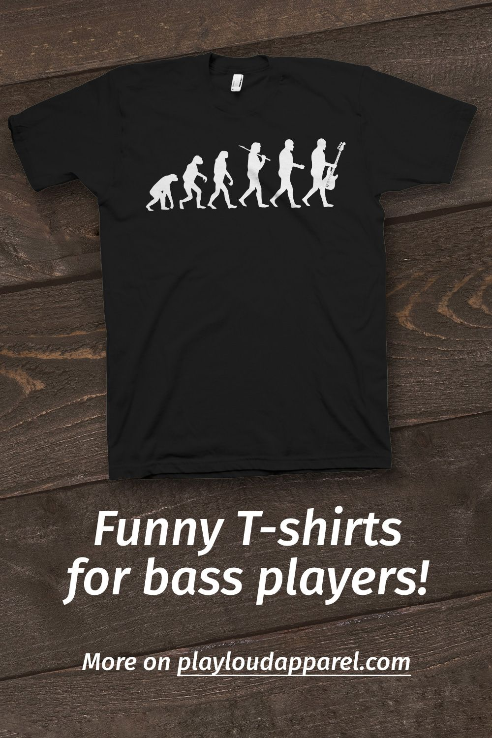 Evolution Guitar T-SHIRT Electric Bass Acoustic String Band birthday funny gift