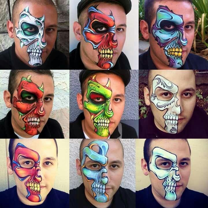 Wow! These are awesome! face painting ideas Pinterest Face - best halloween face painting ideas