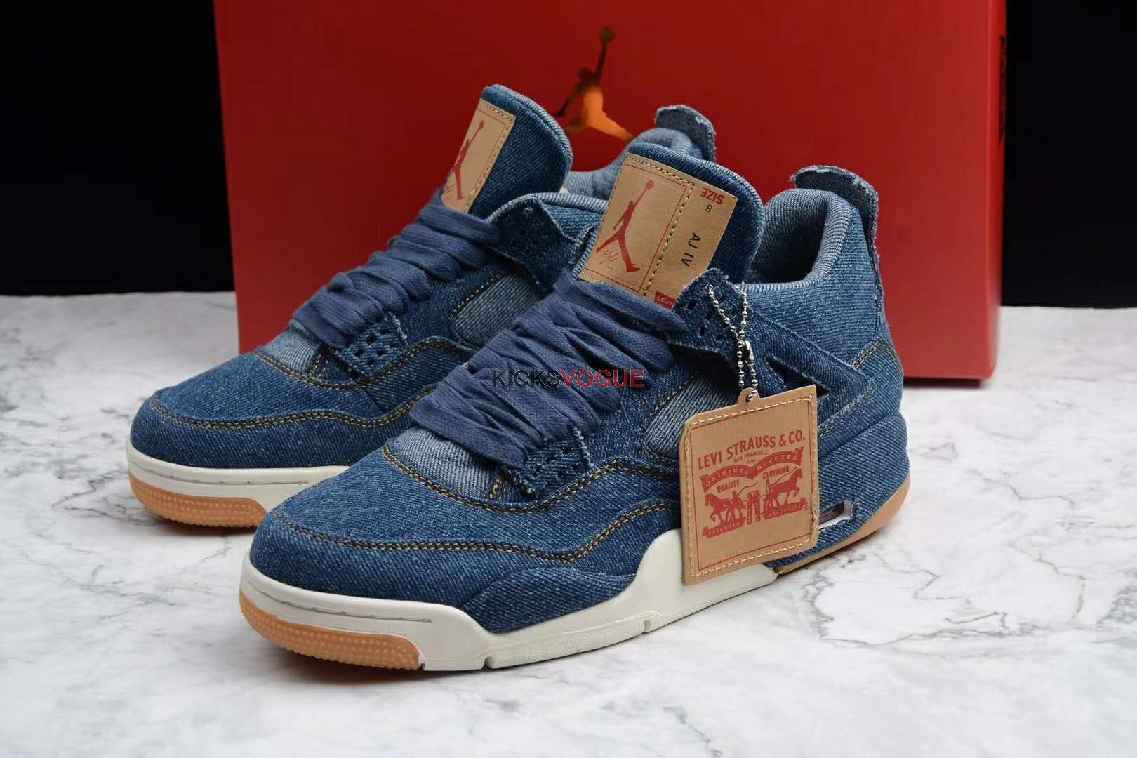 "aa5beeb7fd8 Levi's x Air Jordan 4 ""DENIM"" AO2571-401 