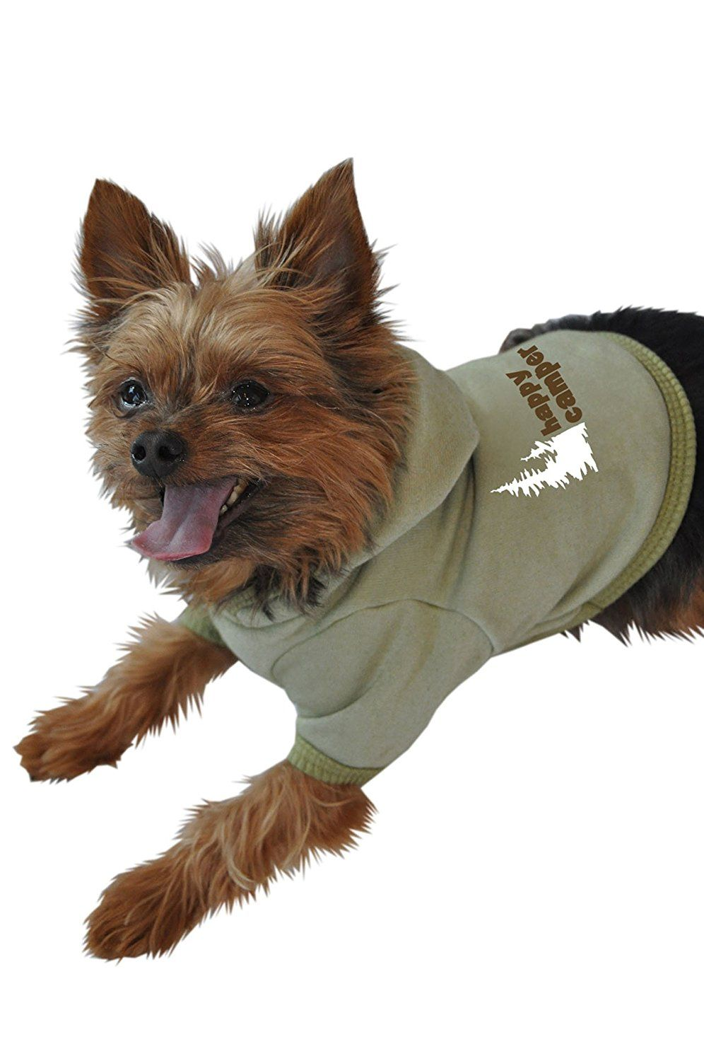 Ruff Ruff And Meow Dog Hoodie Happy Camper Green Medium Check