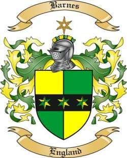 Barnes Family Coat of Arms from England