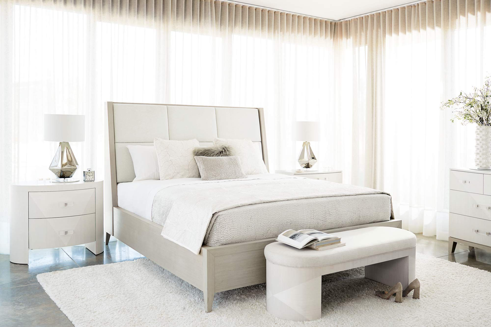 High end luxury bedroom furniture. Axiom bedroom collection
