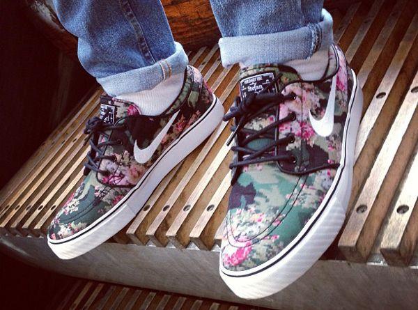 Une Nike Janoski SB à fleurs – chaussure de skate | Nike stefan ...
