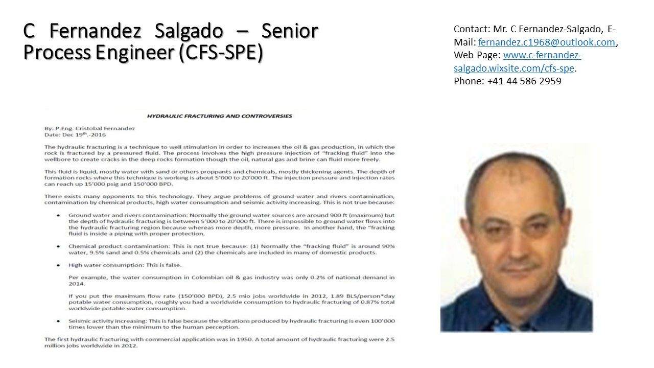 Business Approach  C Fernandez Salgado  Senior Process Engineer