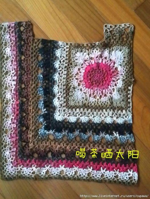 Beautiful blouse you can make it from remnants of thread - بلوزة جميلة من بقايا الخيوط