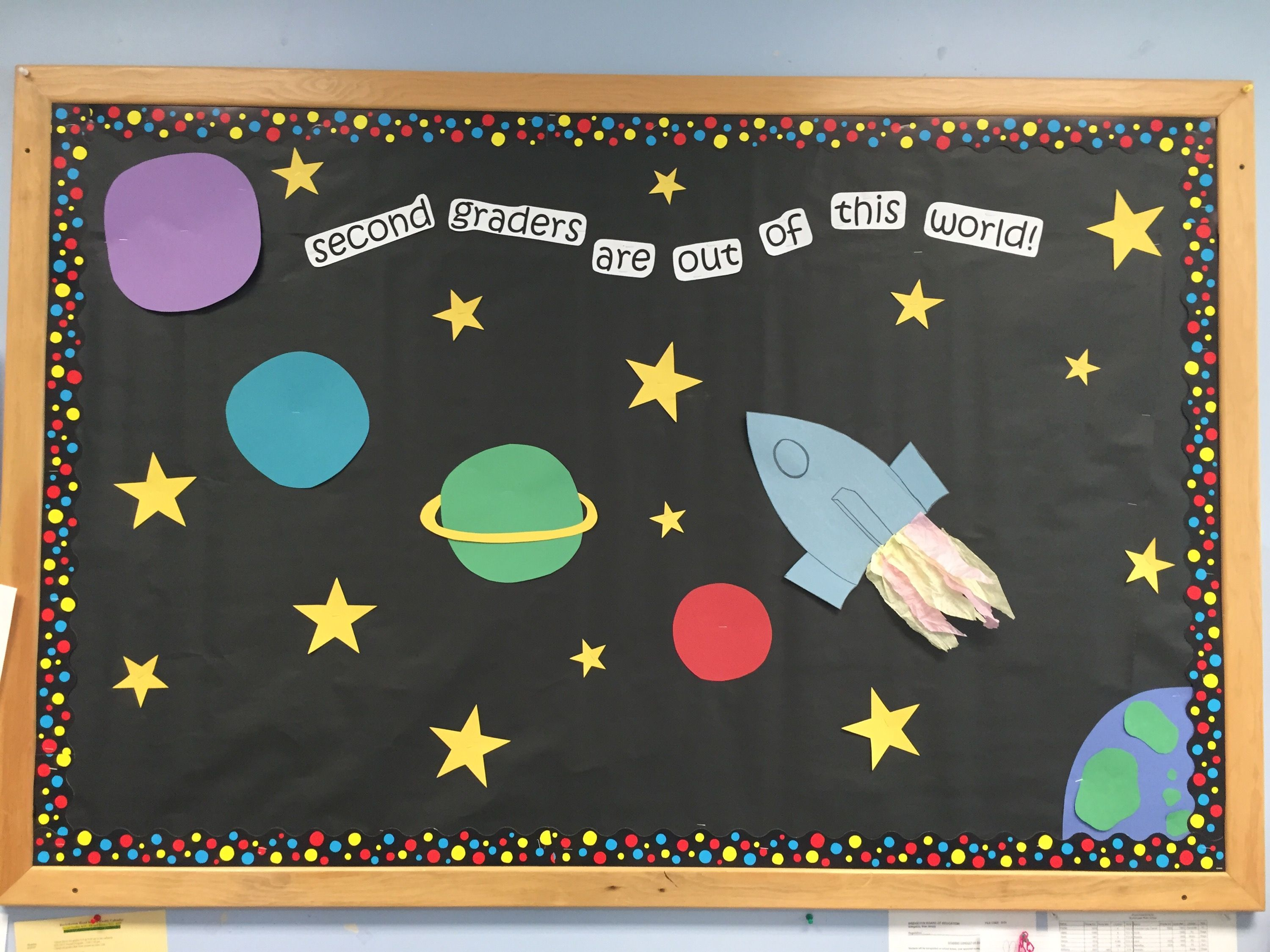 September Bulletin Board For Second Grade Out Of This World Space Themed Via Lesson Plans And Na World Bulletin Board Space Theme Classroom Classroom Themes