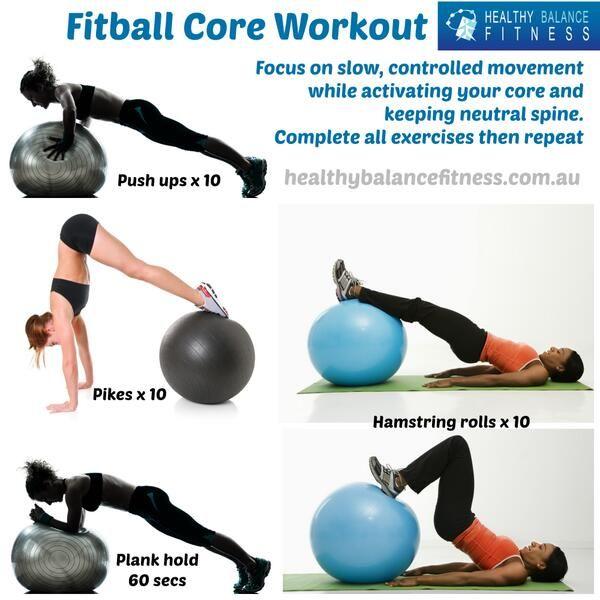 Stability Ball Core Exercises: Trabajo #isométrico Con #fitball. Este Tipo De Ejercicios