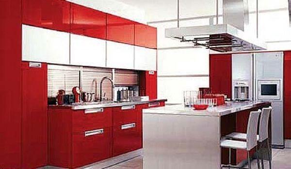 Muebles cocina rojo . Roja . | Cocinas y mas | Cocinas y mas | Pinterest