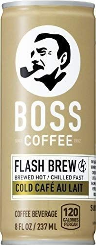 BOSS COFFEE by Suntory - Japanese Coffee Drink with Milk - Imported Coffee - Flash Brewed - Gluten Free. (Au Lait) (8 oz) (Pack of 12) #bosscoffee WELCOME TO SOMETHING NEW Introducing, for the first time in wide release across the United States, a major Japanese ready to drink coffee brand BOSS COFFEE. BOSS Coffee delivers flavor and quality, without the negative bitterness using the coveted flash brewed coffee method. Essentially, we're brewed different. WELCOME TO FLASH BREW Using a traditio #bosscoffee