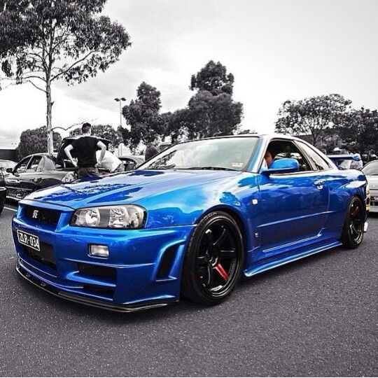 R34 GTR V-Spec Bayside Blue