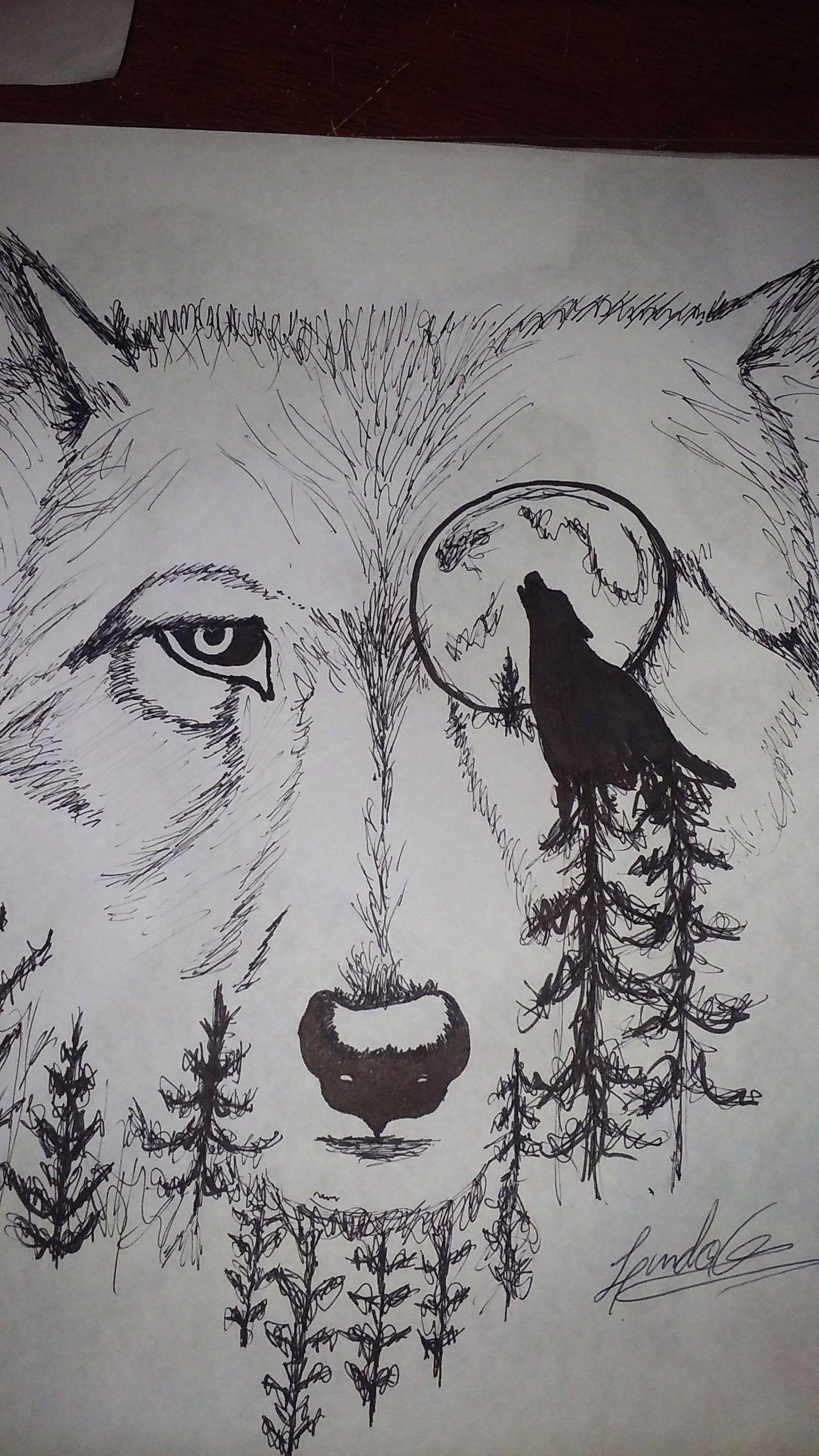 Lobo Animale Bosque Lapiz Blancoynegro Dibujos Tumblr Dibujos Tipos De Dibujo