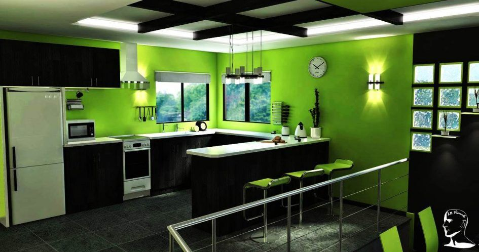 Design Ideas Cool Kitchen Paint Colors With Dark Cabinet Maple Cabinets Of Best Color Palett Green Decor Lime Designs