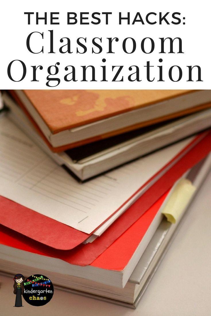 THE Best Hacks For Classroom Organization! #classroom #teacher #kindergarten #schoolsupplies #organization #classroomorganization #organizationforteachers