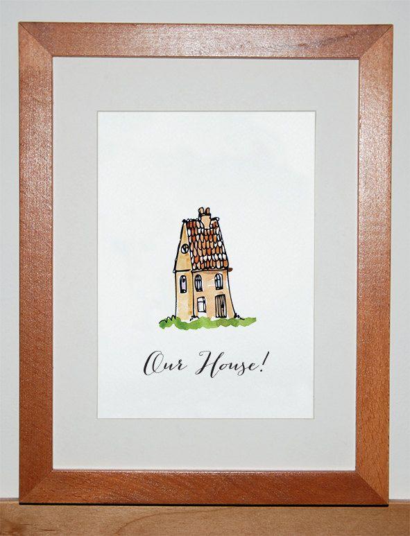 Our House Print. $15.00, via Etsy.