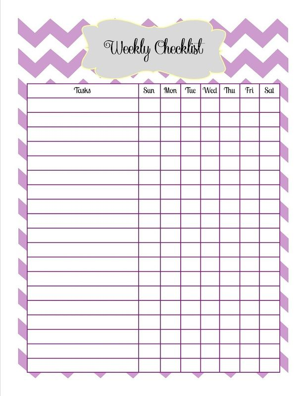 Downloadable Weekly Checklist  HomeschoolUnschool