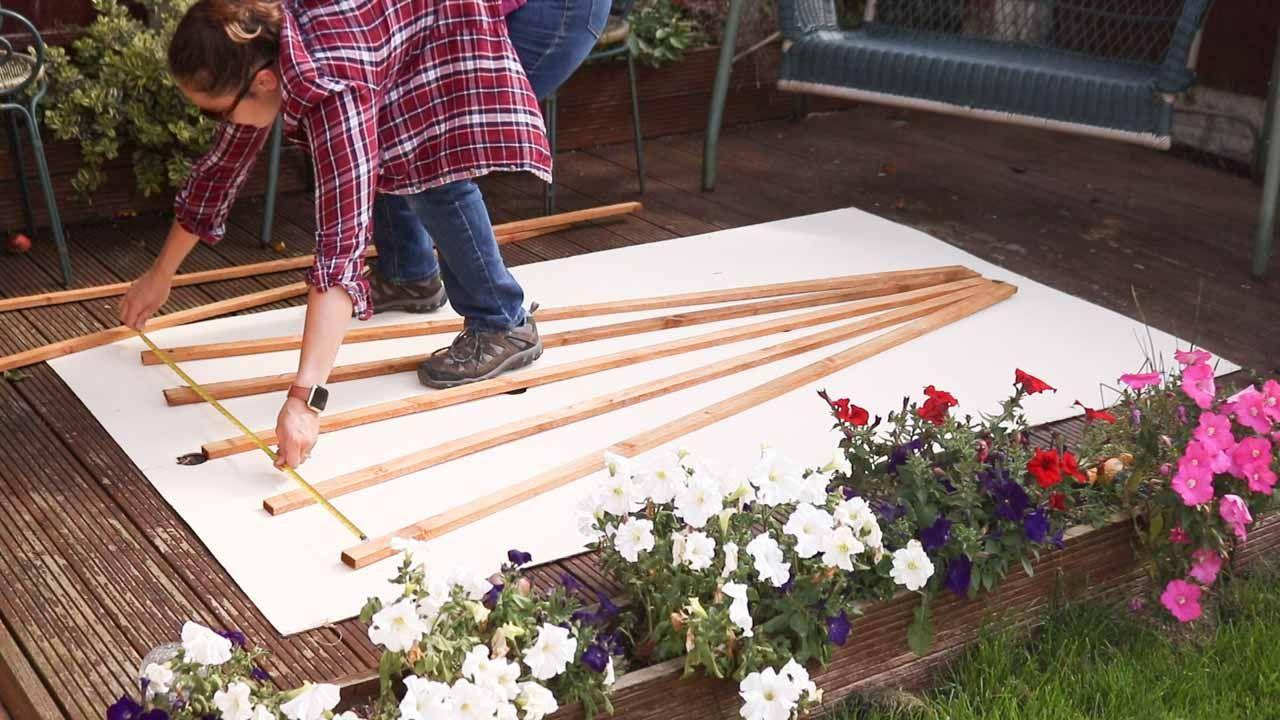 How to Make & Hang Wooden Trellis Diy trellis, Wooden