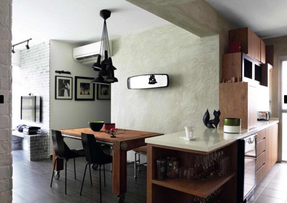 Kitchen Floorings 7 Amazing Hdb Flats In Sengkang And Punggol Industrial Bar Tops