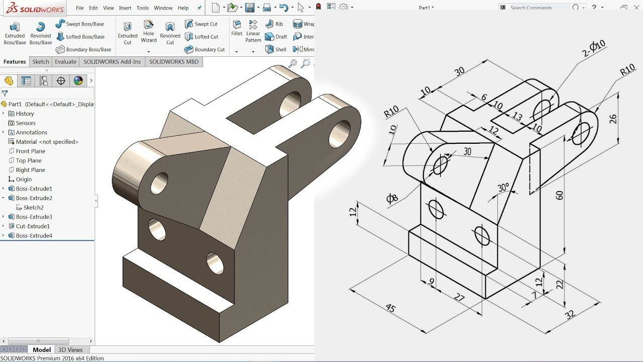 Solidworks Tutorial For Beginners Exercise 34 Youtube 3d