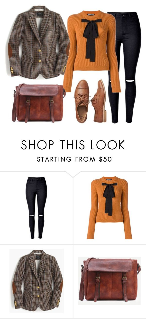 """L'étudiante"" by emilylauraa ❤ liked on Polyvore featuring Rochas, J.Crew, Gap, school, Oxfords, blazer, classy and schoolgirl"