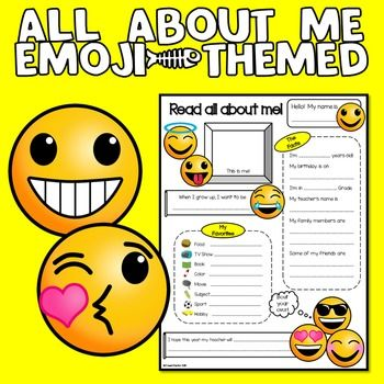 all about me emoji theme back to school emoji pastor