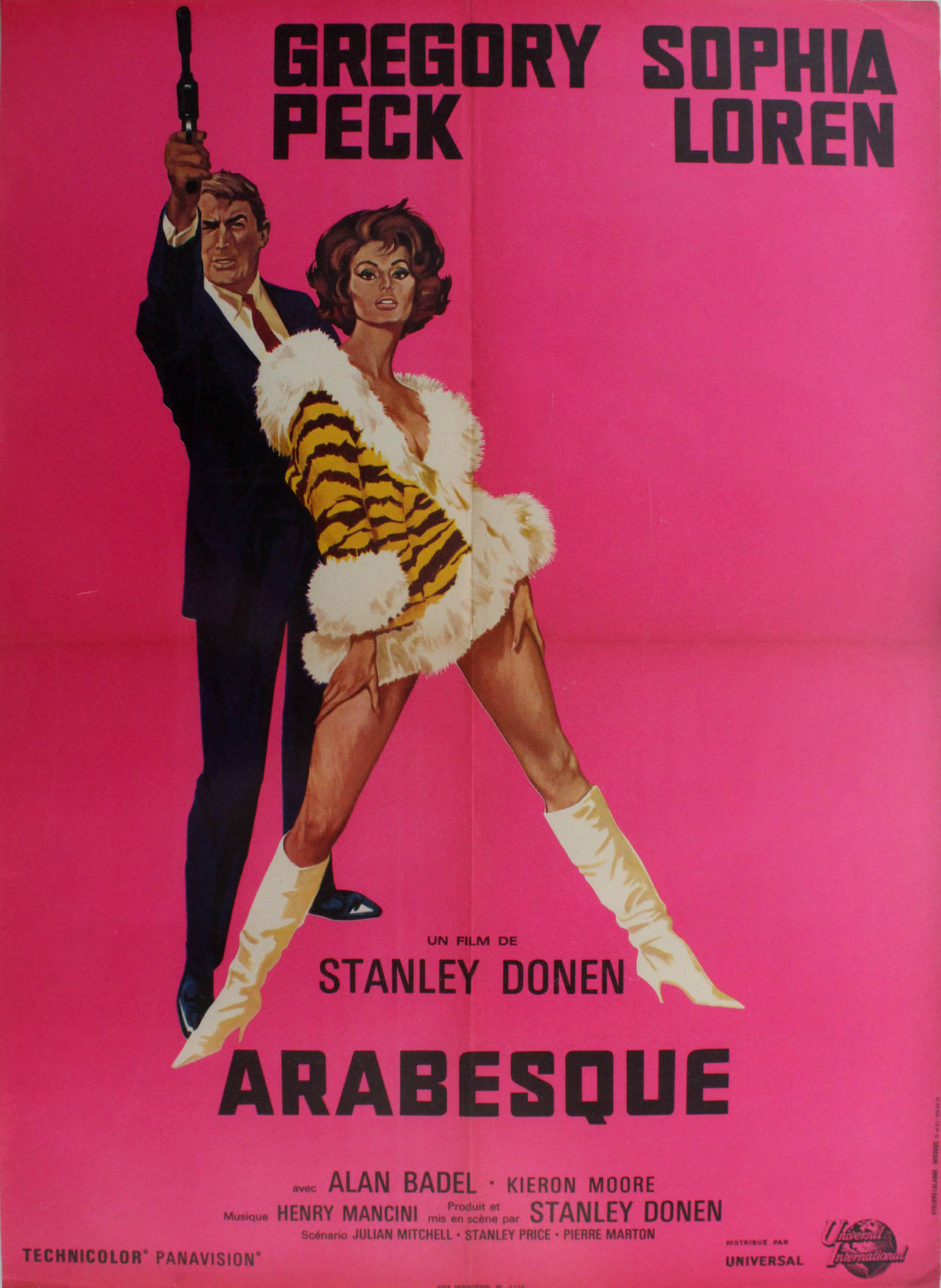 original vintage movie poster for arabesque starring