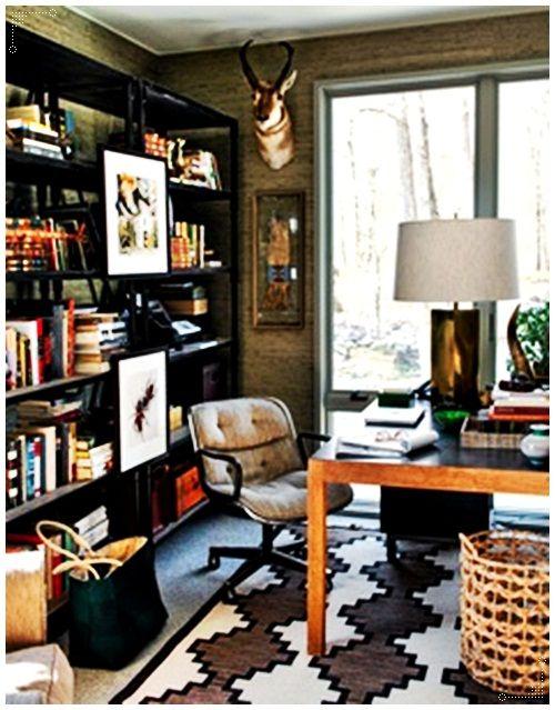 MASCULINE STYLE HOME OFFICE | Decorazilla Design Blog