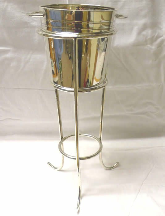 Vintage Silver Plated Bucket On Stand A Very Smart Champagne