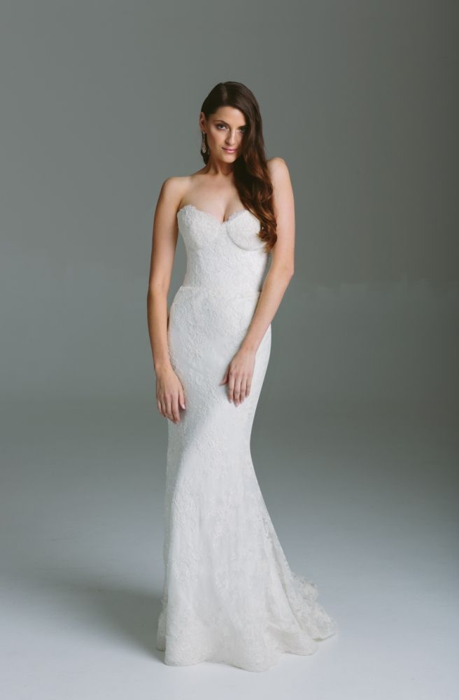 Bespoke Collection - Annika - Strapless bustier wedding gown with ...