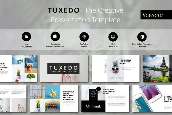 Tuxedo Minimal Keynote Template Keynote, Template and Presentation