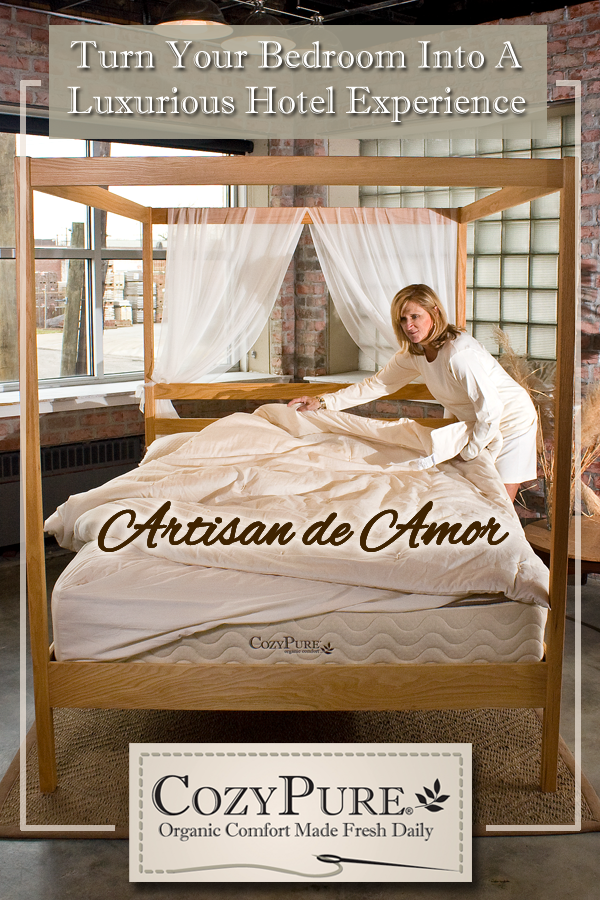 Are you looking for a green, healthy solution to your bedroom redecoration? Try CozyPure Organic Mattresses and Bedding. Handcrafted organic mattresses and bedding, made right here in the USA. Consider the CozyPure Artisan de Amor Luxury Collection to give your bedroom the clean, all-organic vibe for a healthier night's sleep.