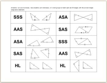 triangle congruence worksheet - Google Search | Fabric ...