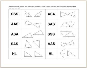 Triangle Congruence Worksheet Google