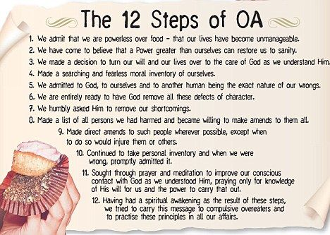 12 step program oa My oa toolkit (oat) is an exciting new tool to help members of overeaters  anonymous while on the go you can use my oa toolkit's food journal as a your .